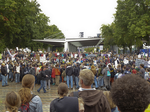 Occupy Portland Crowd 2011