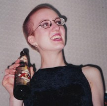 Karelia, age 21. Head shaved. Still not butch.