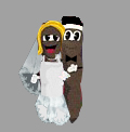 Mr. Hankey The Christmas Poo gets married.  Character copywrite Southpark Studios.