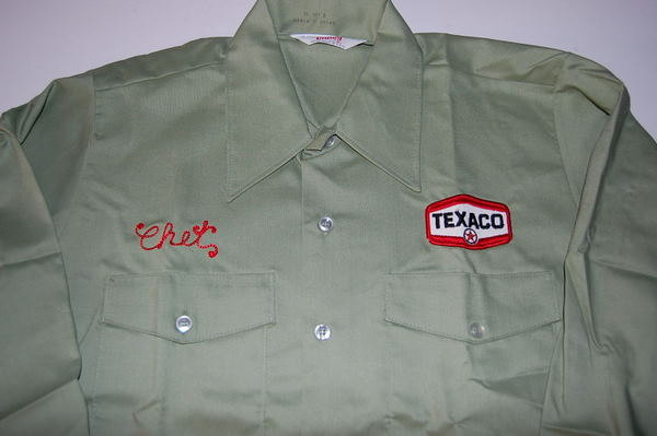texaco name badge