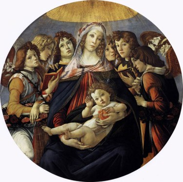 Madonna of the Pomegranate :: Sandro Botticelli, 1487