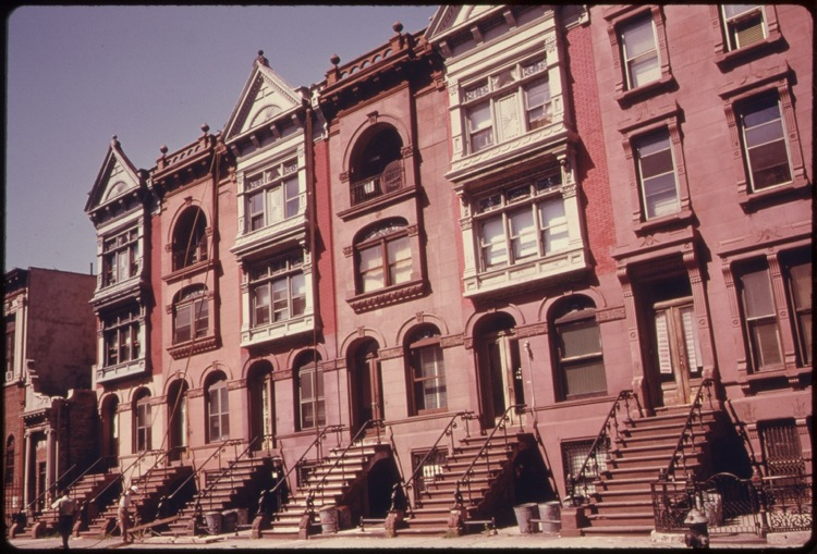 Brooklyn brownstones, used with permission of Flickr Commons.