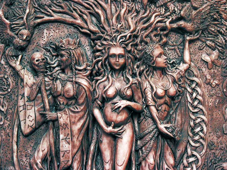 Triple Goddess by Maxine Miller