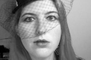 author with veil