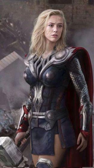 Female Thor Fanart via Pinterest