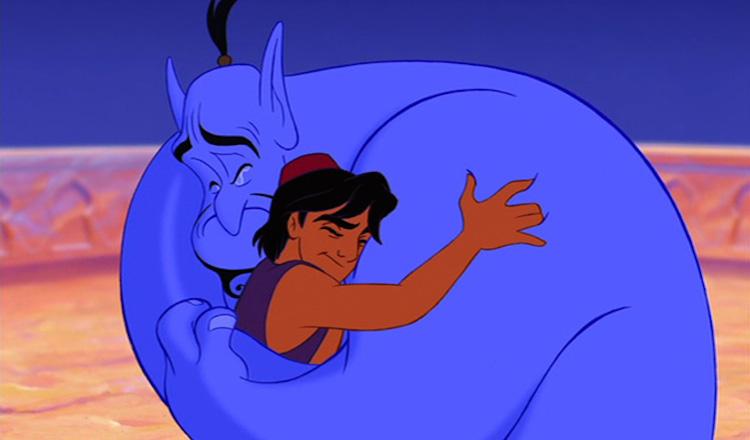 Aladdin says goodbye to Genie