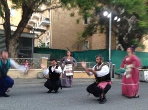 Cypriot folk dancers