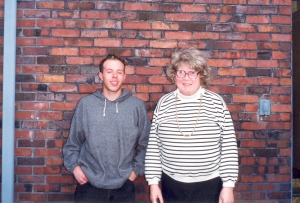 The author and Dr. Ellsworth, Summer 1999