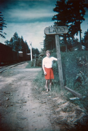 Dr. Ellsworth at Ladd's Addition site in Portland, early 1960s